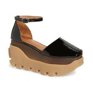 Jeffrey Campbell Fuse Flatform Sandal 7.5 NEW